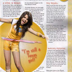 4 Ноября редкий скан «Я Все Еще Девчонка Из Техаса» с Селеной из журнала Pop Star Magazine 2008 года