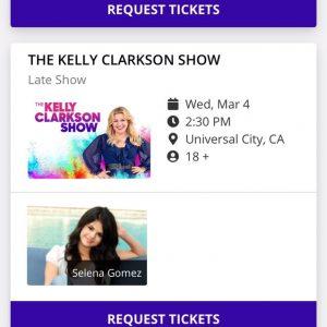 13 Февраля Селена посетит шоу Келли Кларксон в Марте