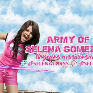 22 Июня сегодня исполняется 10 лет нашему фан клубу ArmyofSelenaGomez!