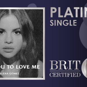 14 Августа Lose You To Love Me сертифицирована платиновой в Великобритании