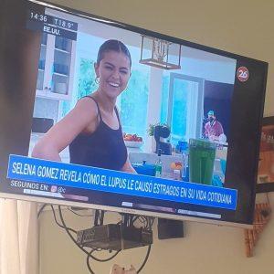24 Августа репортаж про кулинарное шоу Селены показали в новостях в Аргентине