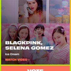 6 Октября голосуй за Ice Cream в премии MTV EMA 2020!