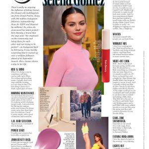 3 Января разворот в журнале Marie Claire с Селеной