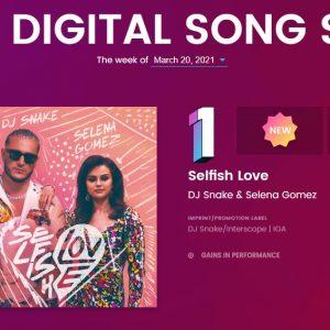 16 Марта Selfish Love дебютирует с первой строчки чарта  Latin Digital Songs Sales