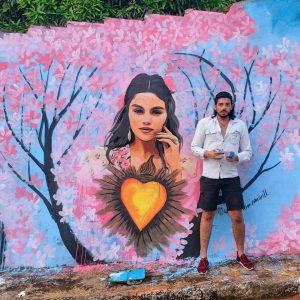 13 Апреля супер-фан из Бразилии создал граффити в стиле De Una Vez