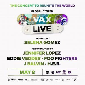 13 Апреля Селена объявила на Инстаграме и Твиттере о том, что будет ведущей благотворительного концерта «#VaxLive: Концерт, чтобы объединить мир», который пройдет 8 мая